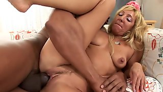 WhiteGhetto Blonde Cougar Gets a Big Black Cock in Her Tight Pussy