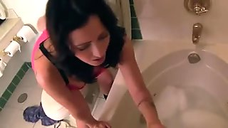Mom Properly Cleans Her Injured not Son WF