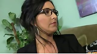 Hot mommy milf takes a ride on a big black cock 23