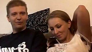 Great Amateur German Threesome Porn (1 Guy VS. 2 Milfs)