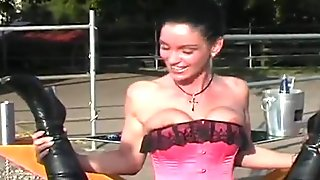 sexy ass sluts are getting fucked with huge peckers