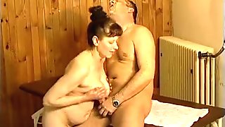 Horny mature mom loves titty fucking