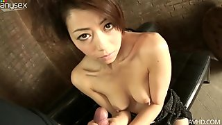 Japanese fairy Maki Hojo exposes her boobies and gives head