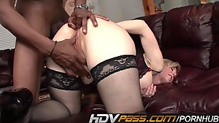 HDVPass Blonde Milf Gets Her Ass Pounded by Huge Black Cock
