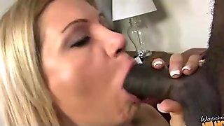 Big tits white cougar fucks a lucky black guy 4