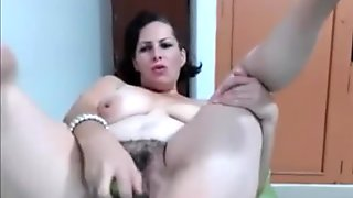 Hot Milf With hairy Pussy Toying