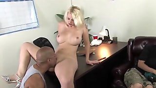 Son watching busty mom Mandy Sweet taking a BBC
