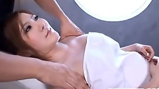 Momoka busty is aroused over oil