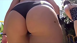 Sexy Big Ass Latina Thongs beach Voyeur HD Video
