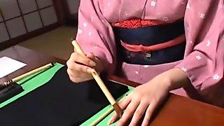 Exotic Japanese whore Shiori Manabe in Horny MILFs JAV movie