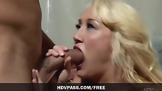 Big tits blonde Alana Evans sucks on the doctor's cock before fucking