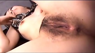 Keito Miyazawa Japanese milf entertains her boss by sucking on his fat cock
